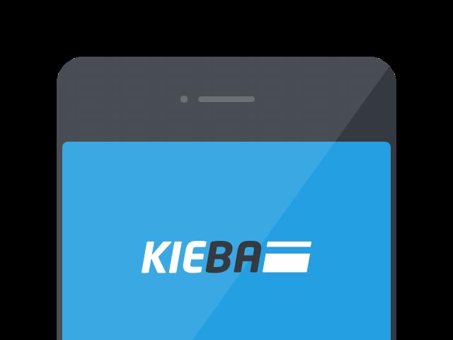 KIEBA App auf dem Smartphone